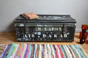 info pour f209c 659d5 Coffre à jouets malle en métal cantine militaire valise de ...