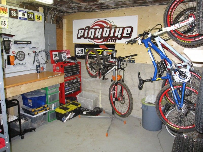 Building A Home Bikeshop Part 2 Bike Room Bicycle Garage