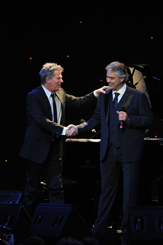 Launch Of The Andrea Bocelli Foundation David Foster Andrea Bocelli Concert Opera Singers Michael Bolton