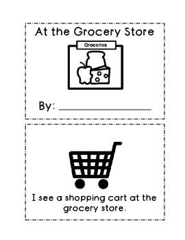 At The Grocery Store Mini Book Grocery Store Preschool Food