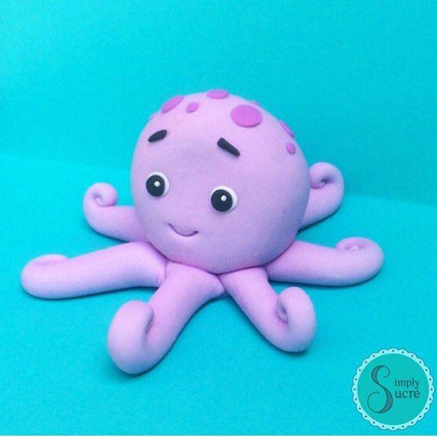 Octopus cake topper! #octopus #babyshowercake #cake # ...