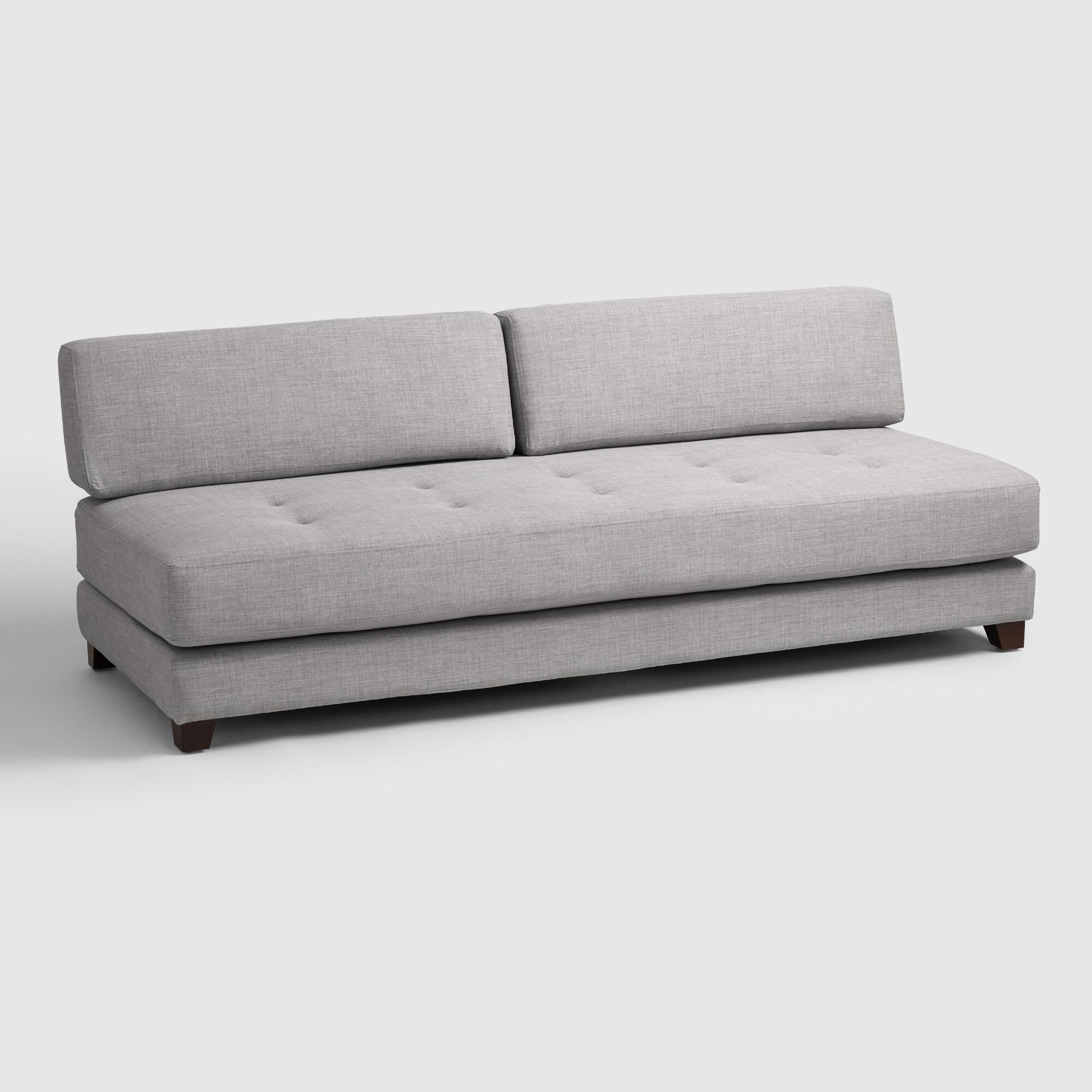Light Gray Hartley Upholstered Duet Daybed Basement