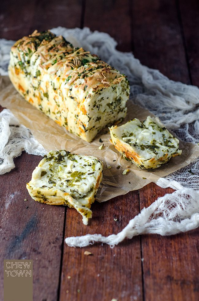 ~ Garlic Herb and Cheese Pull Apart Bread ~