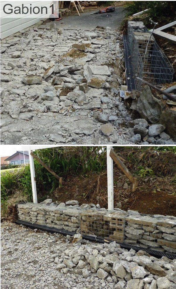 Broken Concrete From Driveway Goes Straight Into The Gabion Baskets Http Www Gabion1 Com Driveway Design Broken Concrete Recycled Concrete