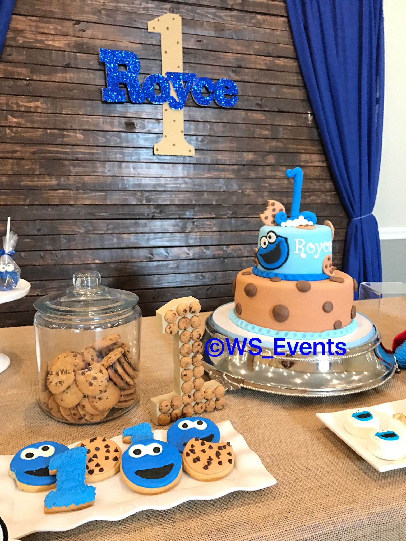 Cookie monster birthday by ws events cookie monster
