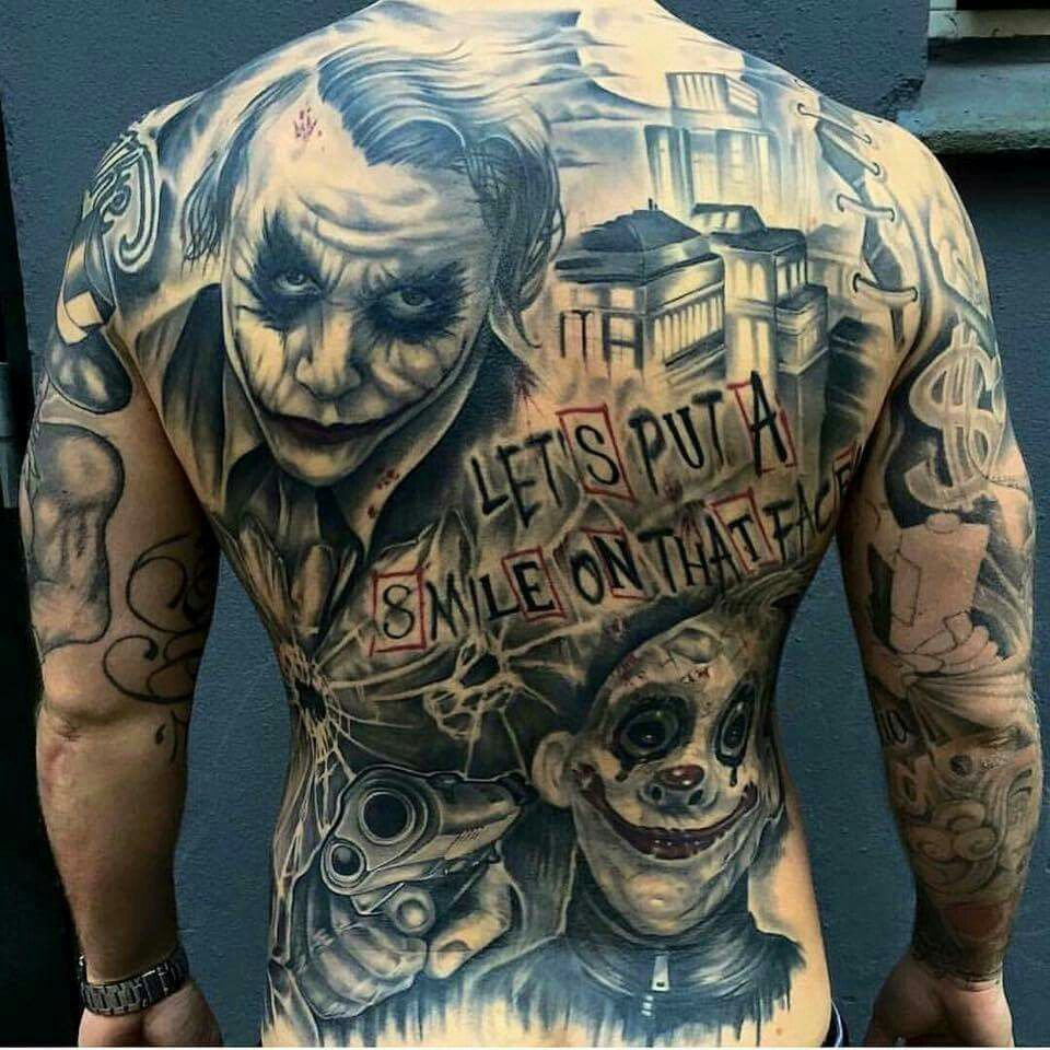 Joker Tatto Hand: Best 25+ Back Piece Tattoo Men Ideas On Pinterest
