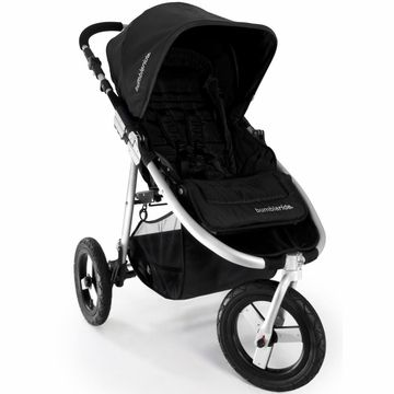 Bumbleride 2013 Indie Stroller in Jet Black We love this stroller! My sister got this for her son & it is so light weight & easy to use. We got black so it doesn't get dirty. We love the big wheels and only 3. Good for walks, runs and any kind of ground. We purchased the bassinet for newborn use because I want to be able to look at my baby. I can't wait to use this stroller!