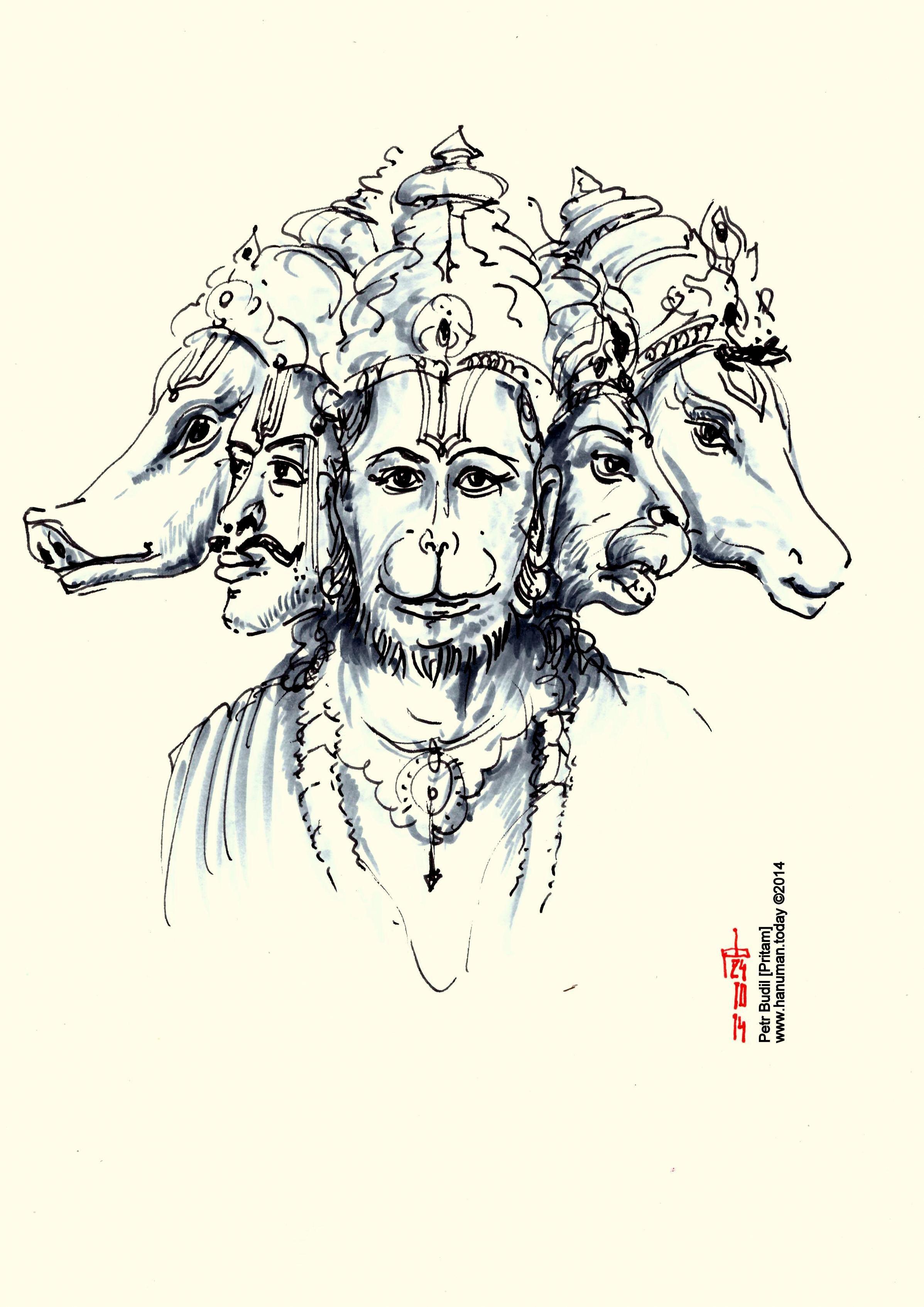 Artwork by Petr Budil  Pritam  pritam@hanuman.today ...