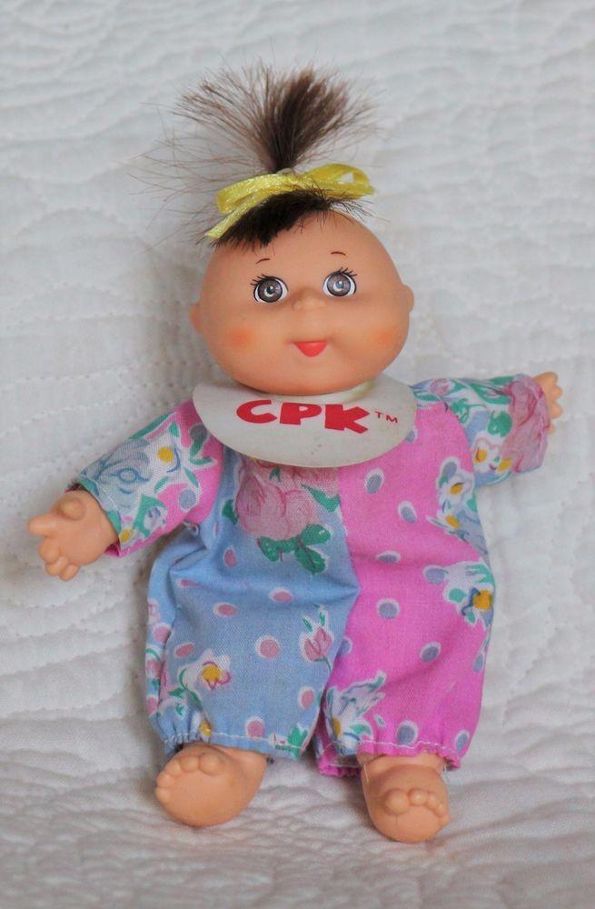 Vintage Rare 1995 Mattel Cabbage Patch Kids 5 Brown Eyes Bib Mini Doll Arcotoys Cabbage Patch Kids Patch Kids Cabbage Patch