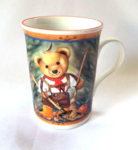 Autumn Fall Harvest Mug Orange Pumpkin Bear Coffee Cup Papel England