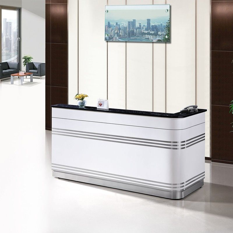 Hot Sale High Evaluation Solid Surface Cheap Office Used Modern Reception Desk Office Table Design Modern Reception Desk Reception Desk