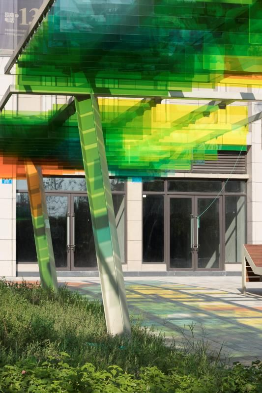 multi coloured canopies designed by wallaceliu