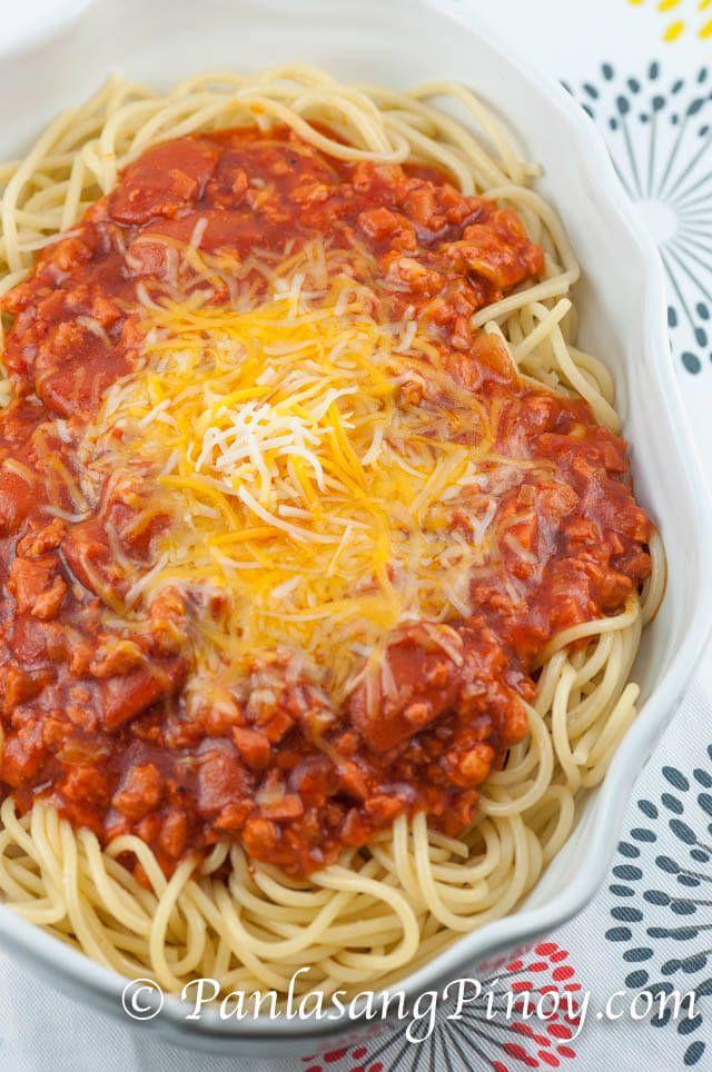 Filipino Spaghetti Recipe Recipe Spaghetti Recipes Filipino Spaghetti Spaghetti Recipes Easy