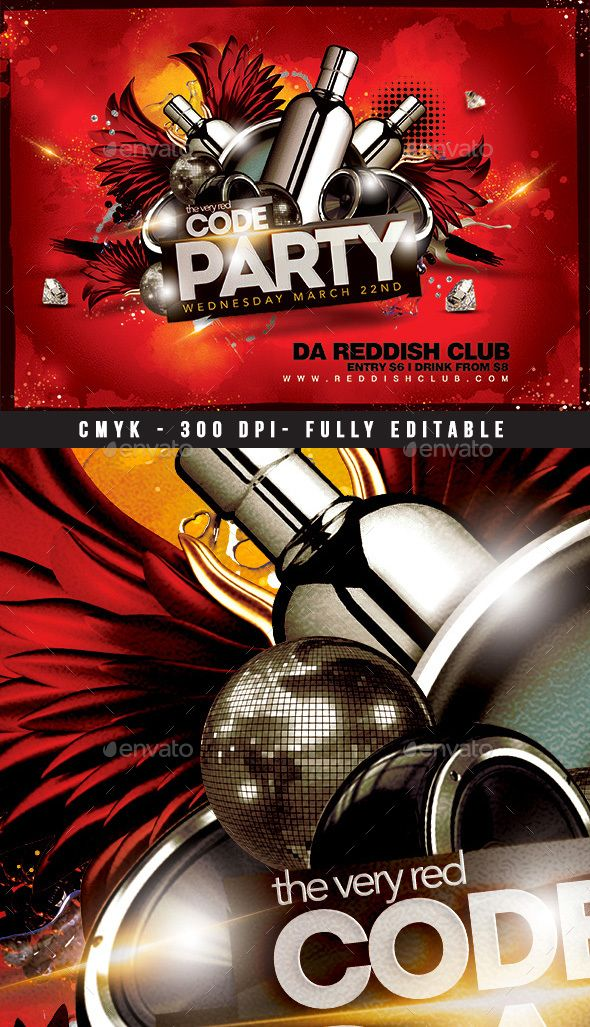 Flyer For Any Party, Any Kind Of Celebration, Related To