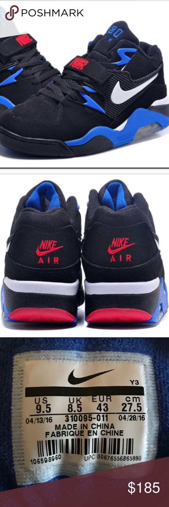 the latest 92ca0 20505 Nike Air Force 180 Mid Charles Barkley Brand new. Nike Air Force 180 Mid  Charles Barkley. Men s size 9.5. Black White Sport Royal  Red.