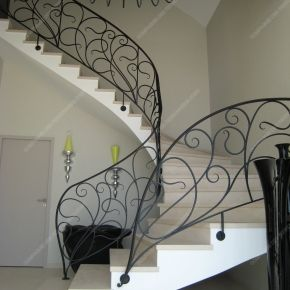 rampes d 39 escalier en fer forg style art nouveau mod le liane ferronnerie pinterest. Black Bedroom Furniture Sets. Home Design Ideas