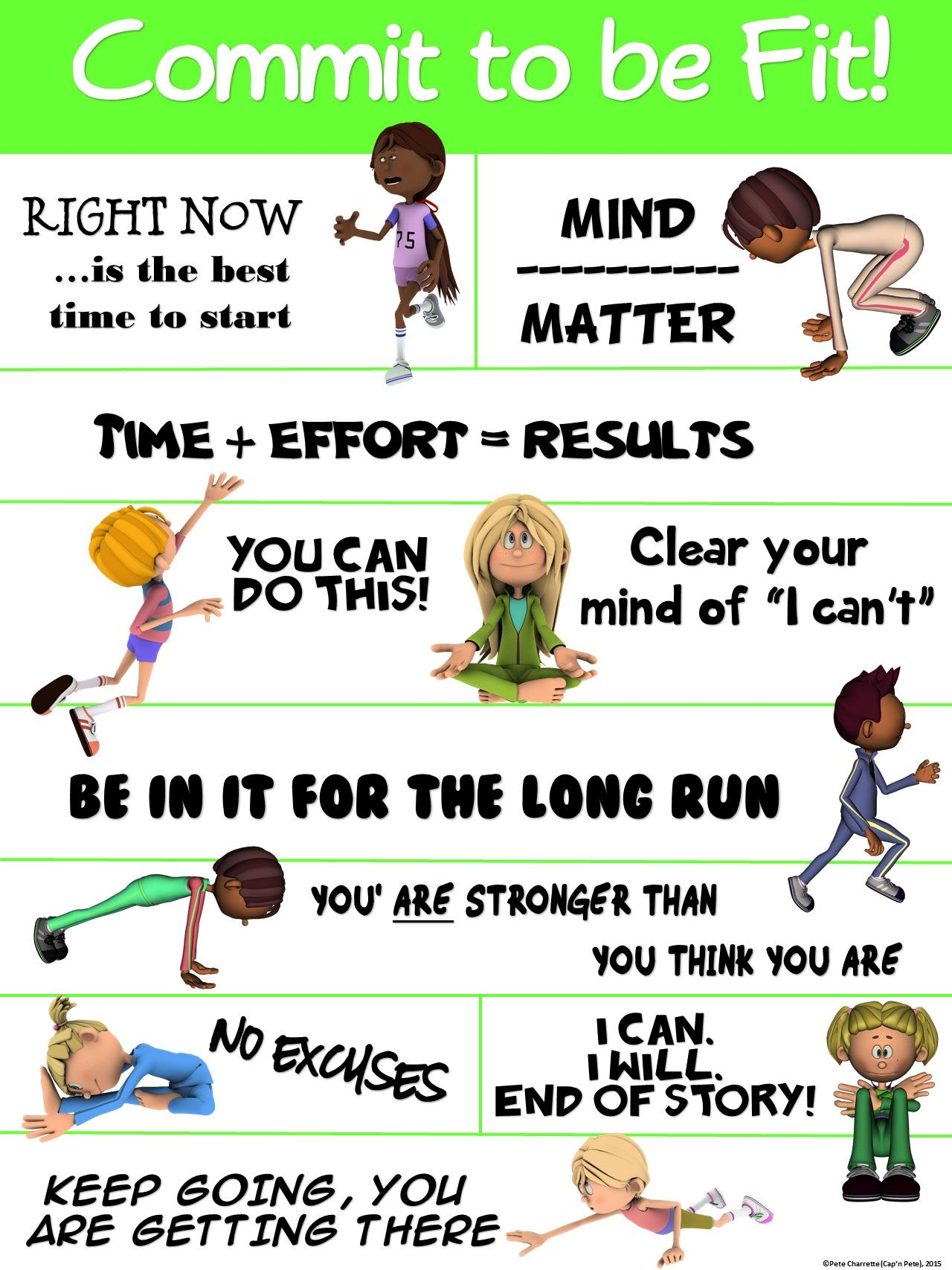Pe Poster Commit To Be Fit