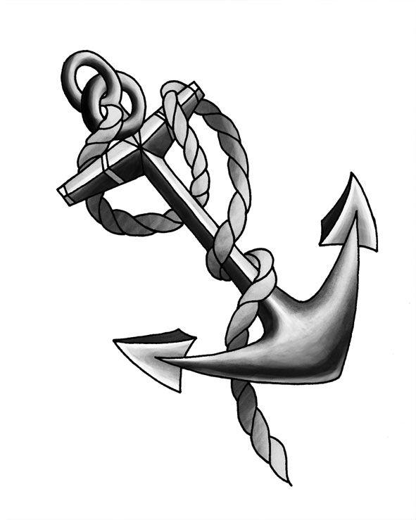anchor drawings | Usmc Tattoo Ega Stencil Eagle Globe Anchor Line ...