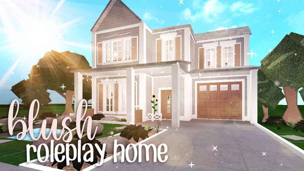Bloxburg Blush Roleplay Home House Build En 2020 Construction Maison Plans De Maison De Famille Plans Maison De Ferme