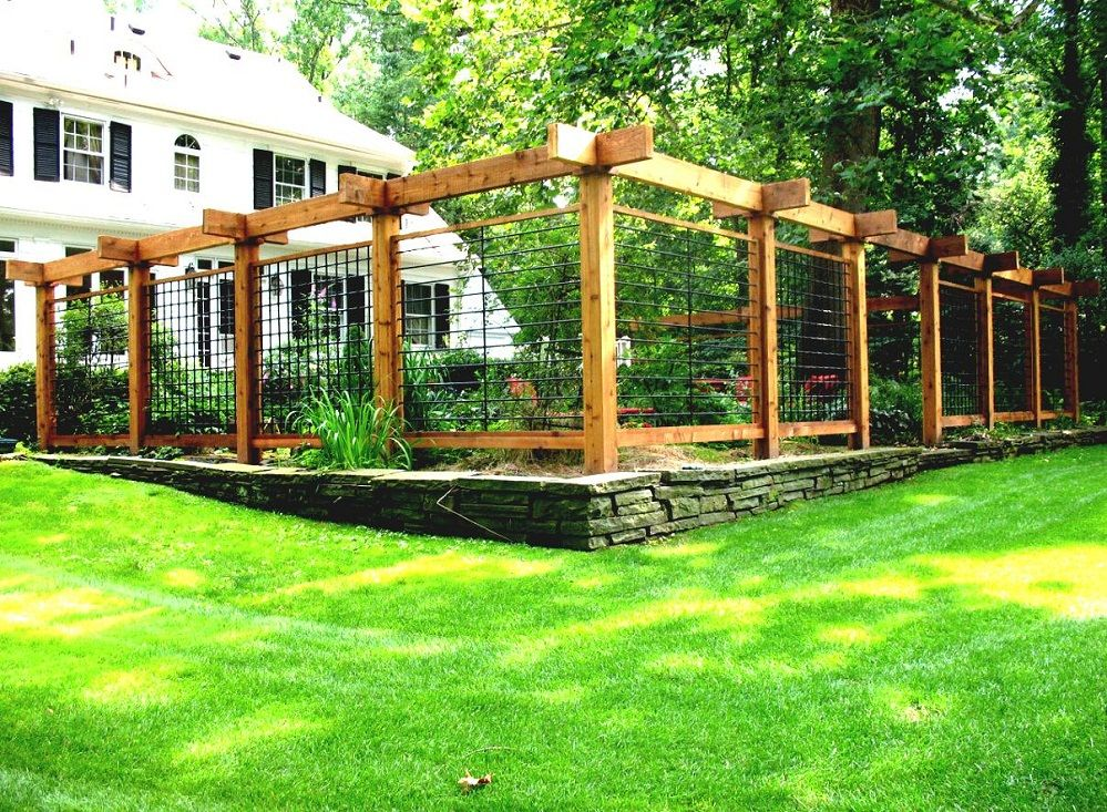 vegetable garden fence ideas wood architectural landscape ideas