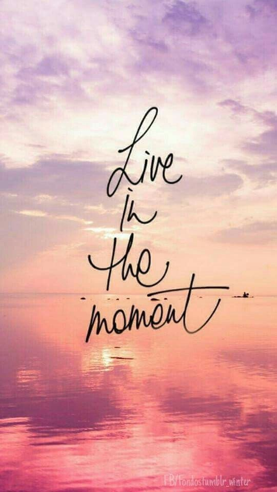 Live In The Moment Fond D Ecran Citation Citation