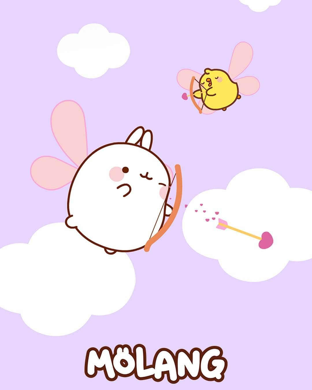 Wanna Give Your Phone A Super Cute Vibe Here Are Some Adorable Molang Wallpapers Download Them On Our Facebo Molang Molang Wallpaper Cute Little Drawings