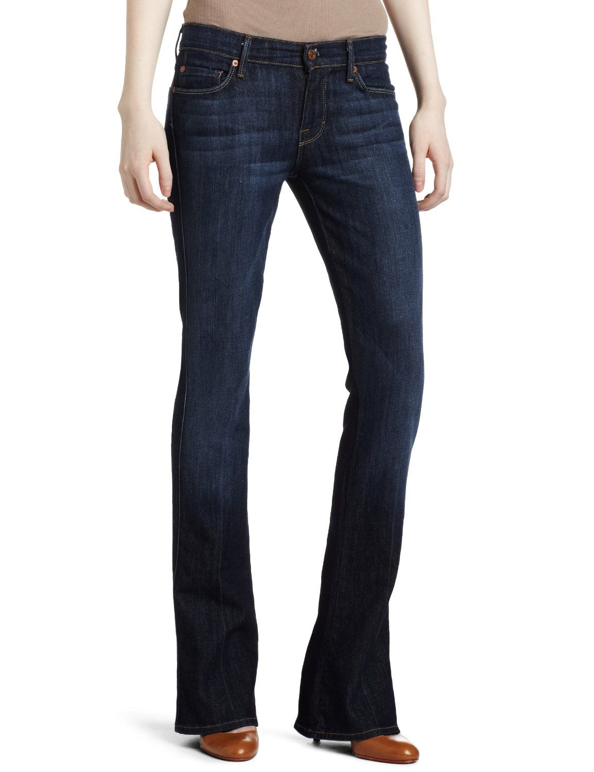 7 For All Mankind Womens Kaylie Slim Fit Jean In Midnight New York