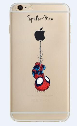 6bc611238a ciciber Phone Case Marvel The Avengers Batman DC Comics Superhero Soft  Transparent Case Cover for IPhone 6 6S 7 8 Plus 5S SE X
