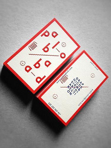 Occulto Kreative Visitenkarten Letterpress Visitenkarten