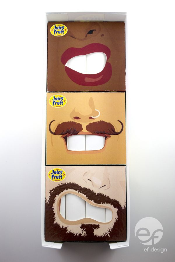 Juicy Fruit Packaging on Behance. who doesn't love a cool pair of lips. PD