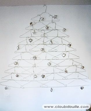 Sapin De No L En Cintres M Talliques D Co No L Fabriquer No L Pinterest Christmas Tree