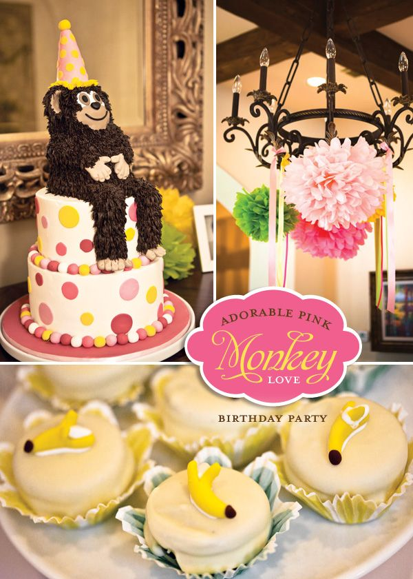 Oh. My. Word! A monkey themed party - totally doing this for Micah's 2nd bday!!