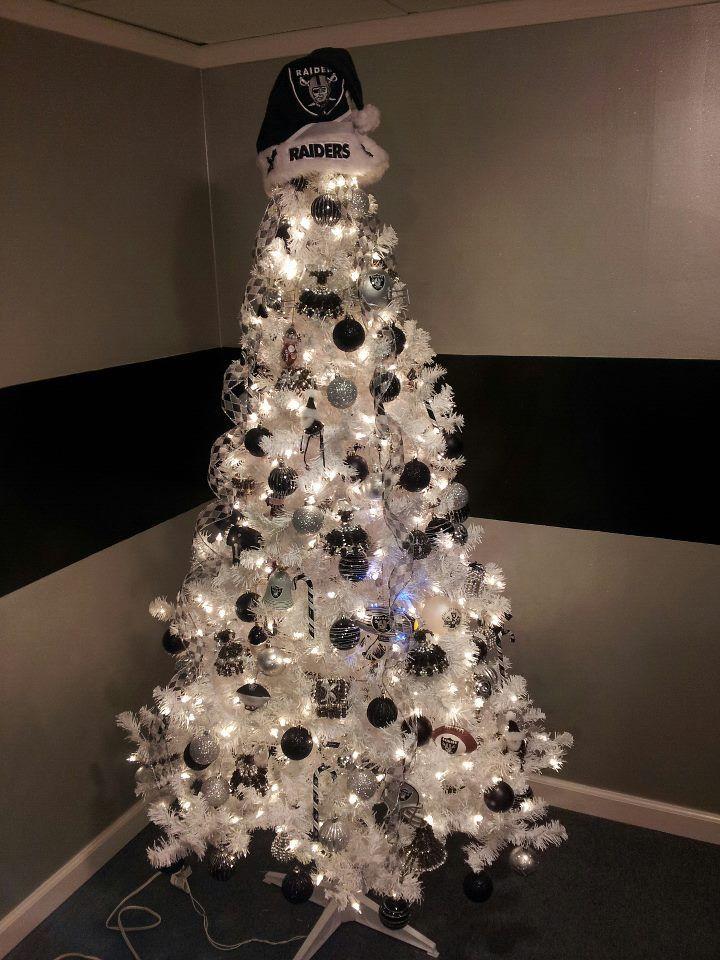 Oakland Raiders Christmas Ornaments.My Friend S All Raider Christmas Tree Raiders Oakland