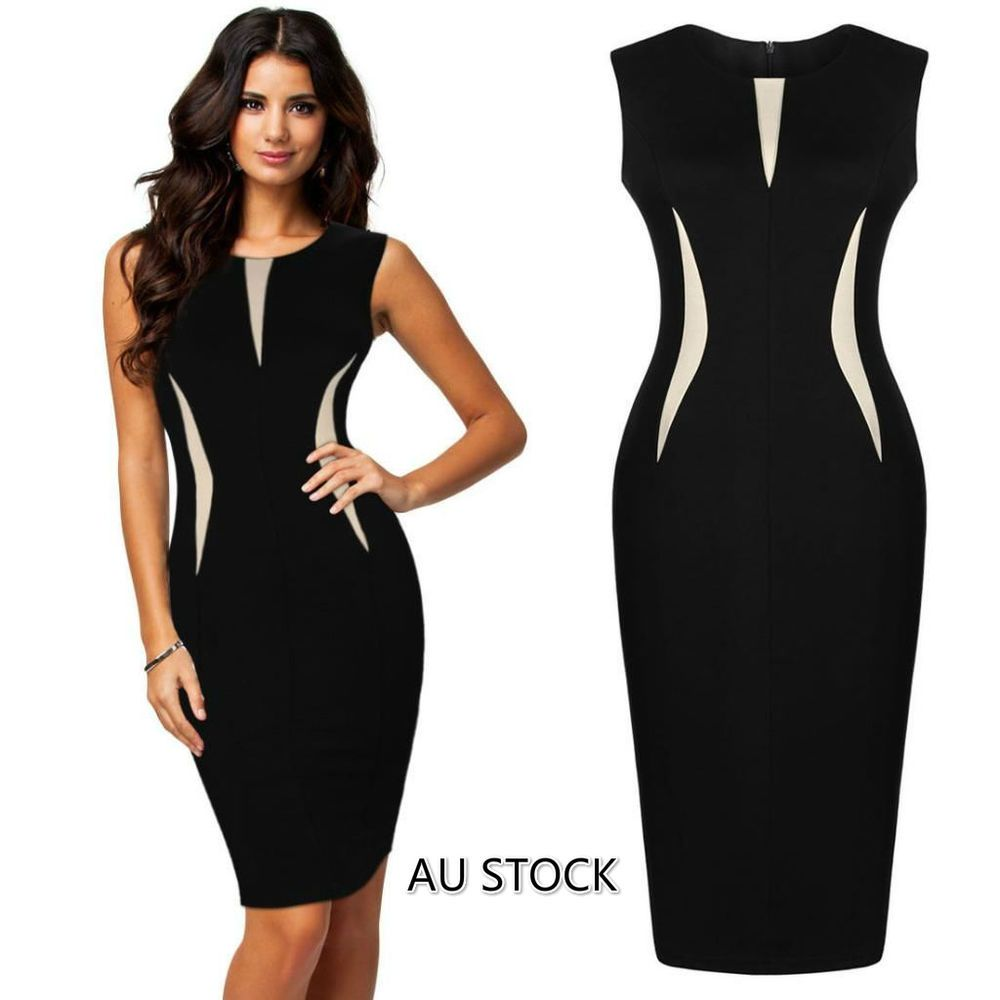 New Women Summer Bodycon Pencil Cocktail Evening Party Dress PLUS ...