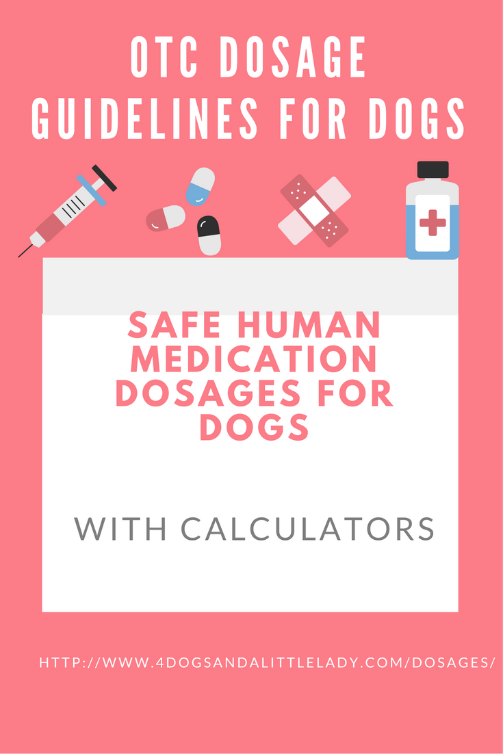 The Recommended Dosage For Benadryl Aspirin Robitussin Immodium Ad And Kaopectate With Easy To Use Calcula Meds For Dogs Benadryl For Cats Aspirin For Dogs