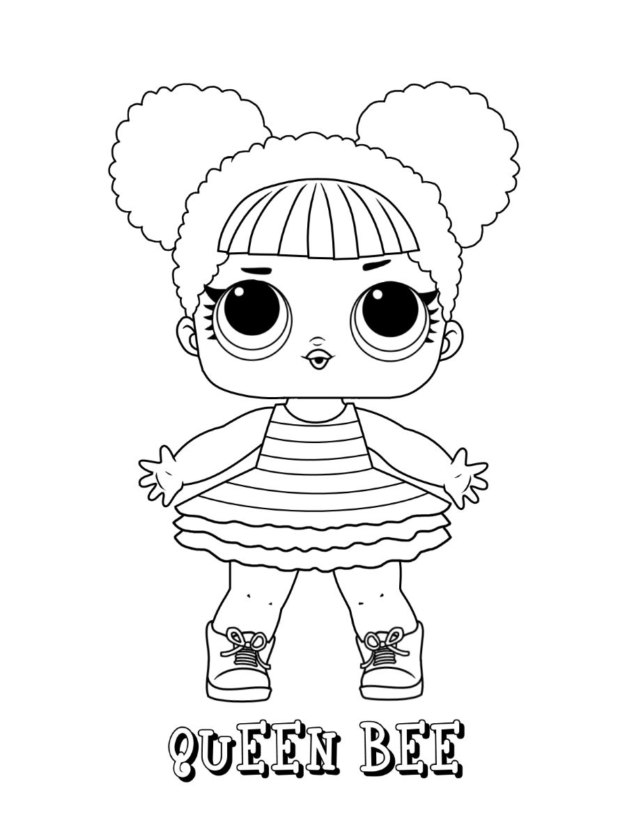 Lol Coloring Page Queen Bee Coloring Pages Allow Kids To Accompany Their Favorite Characters On An Adventur Bee Coloring Pages Lol Dolls Cute Coloring Pages