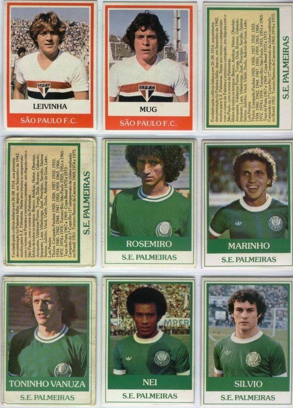Palmeiras - Em 1978 o chiclete Ping Pong lançou a coleção Futebol Cards.