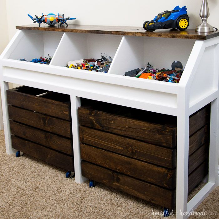 Rustic Toy Storage Unit Build Plans Diy Toy Storage Rustic Toys Toy Storage Units