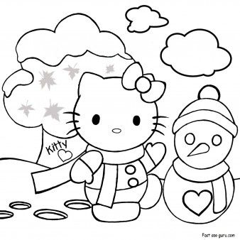 Print Out Merry Christmas Hello Kitty Coloring Pages Printable Coloring Pages F Hello Kitty Colouring Pages Hello Kitty Coloring Christmas Tree Coloring Page