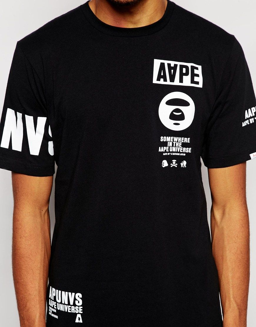 Image 3 of AAPE By A Bathing Ape T-Shirt With Sleeve Print  b146462408a3