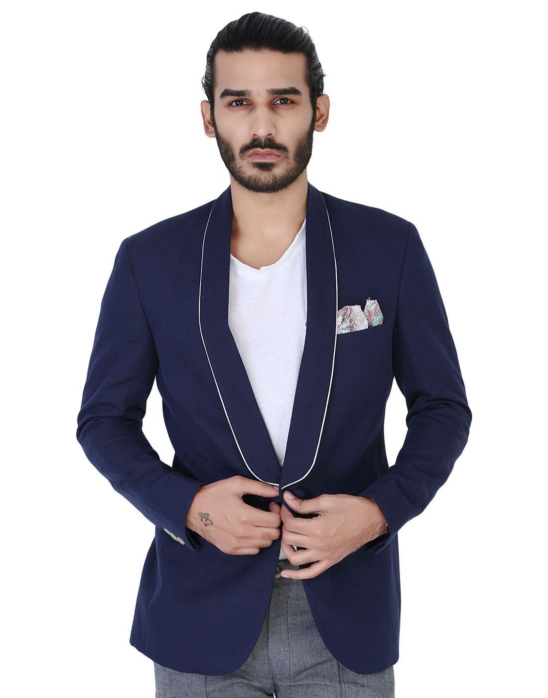 Mens black linen sport jacket