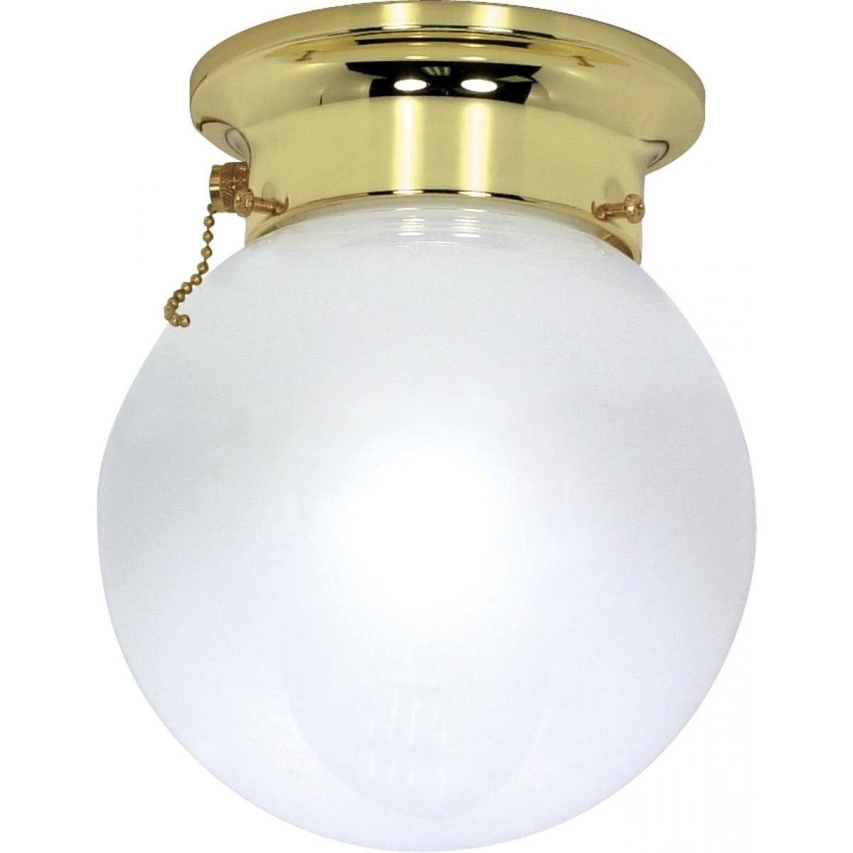 1 Light 6 In Flush W Pull Chain Grey Nuvo Lighting Flush Mount Lighting Pull Chain Light Fixture Flush Mount Ceiling