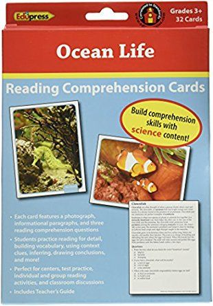 Edupress 32 Piece Reading Comprehension Science Cards Set With