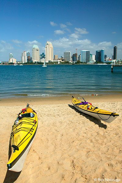 I've never kayaked...it's on the Bucket List for certain! #Motel6UBL  Kayaking and the San Diego skyline from Coronado Island, San Diego, California