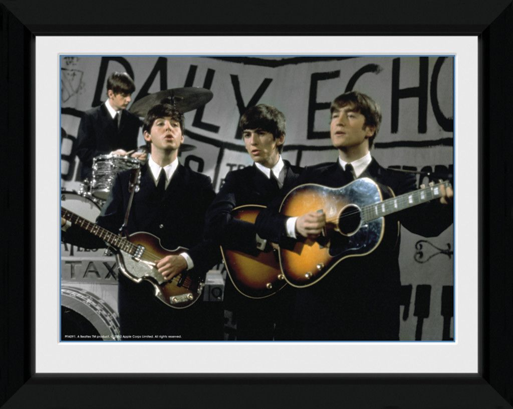 Beatles - Daily Echo - Small Framed Collector Print