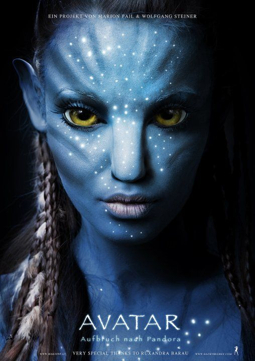 Create James Cameron S Avatar Movie Poster In Photoshop Tutorial Icanbecreative Avatar Movie Avatar Makeup Avatar