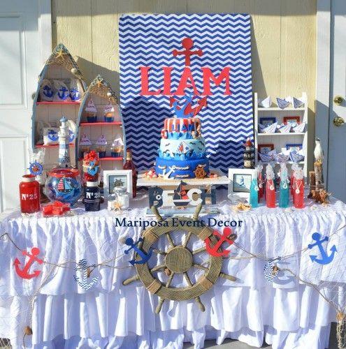 Nautical party mickey marinero pinterest mickey marinero marino y decoracion fiesta - Fiesta marinera decoracion ...