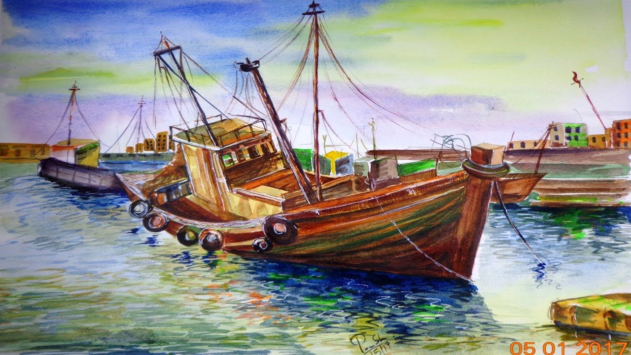 Beautiful Scenery Drawing For Class 8 Watercolor Scenery Beautiful Scenery Drawing Watercolor Landscape Paintings