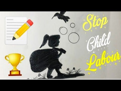 STOP CHILD LABOUR Easy Drawing step by step || Drawing of ...