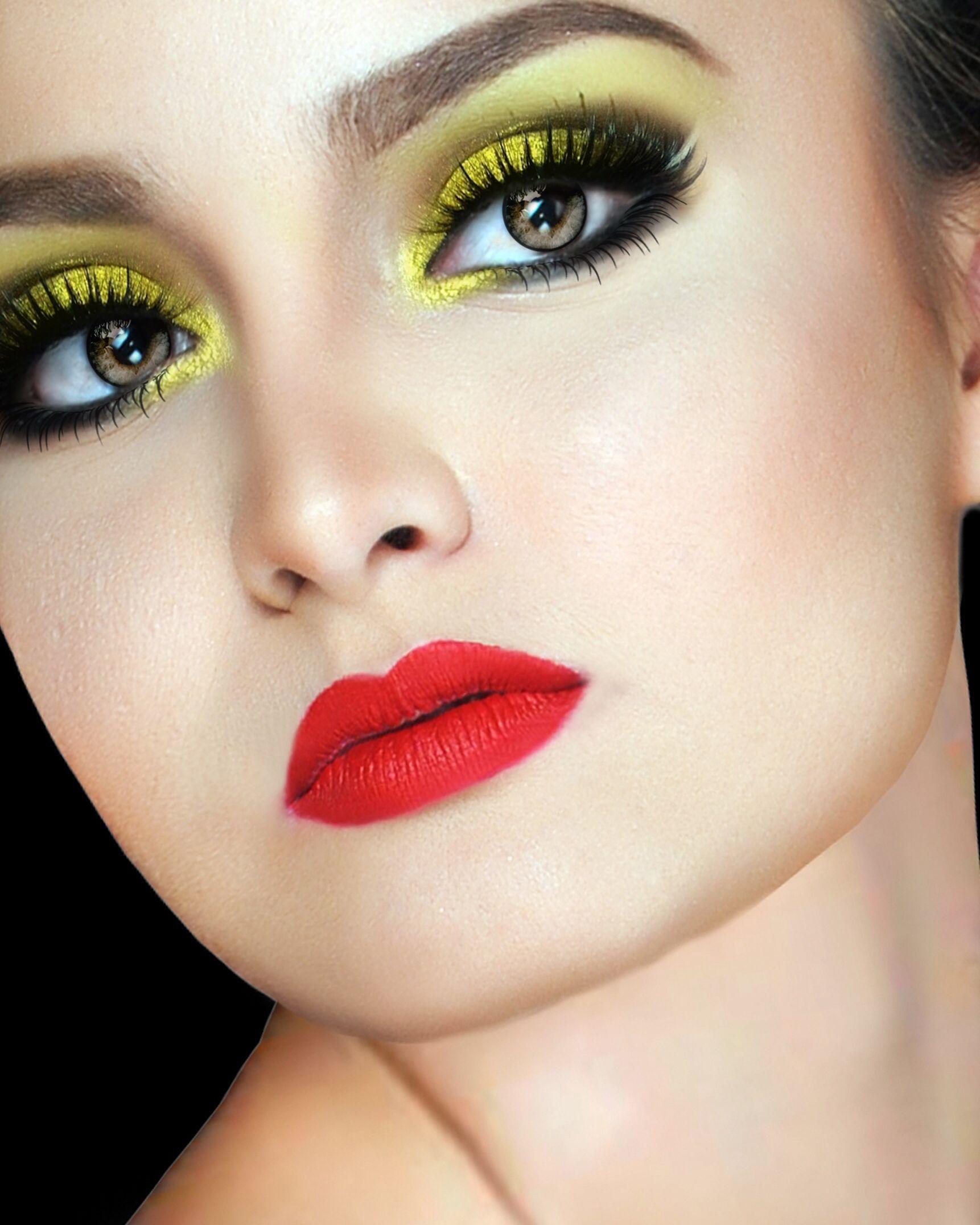 Dramatic Yellow Eyeshadow Mua Wenwen Zaspa Fantasy Make Up In